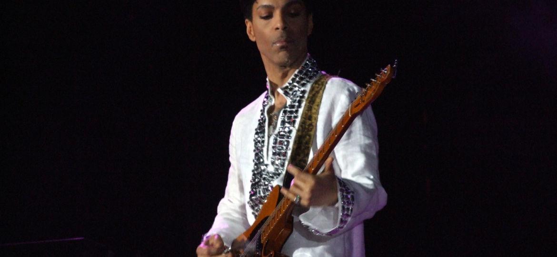 Prince playing at Coachella